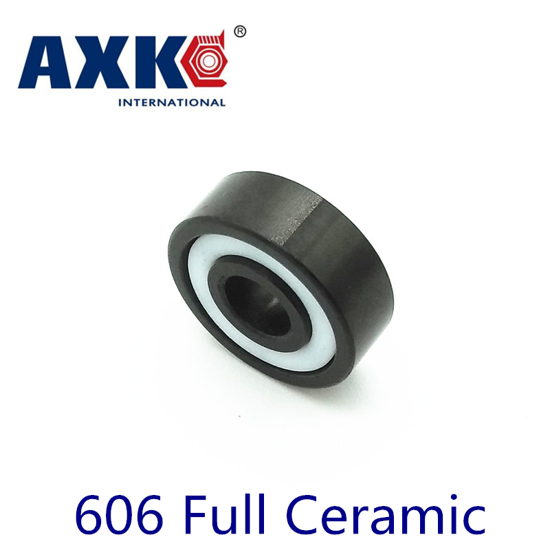 Axk 606 Full Ceramic Bearing ( 1 Pc ) 6*17*6 Mm Si3n4 Material 606ce All Silicon Nitride Ceramic Ball Bearings<br>