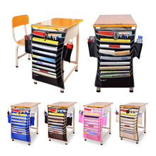 New Adjustable Desk Book Organizer Bag For Desk Width Useful Books Storage Bag Efficient School Bookend Rack