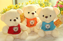 about 18cm bear cloth teddy Bear toys plush bears dolls ,one set / 20 pieces toys draw prizes, Christmas gift,t8787(China)