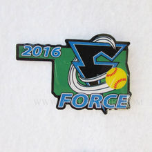 Custom 2017 newest hard enamel baseball pins for sports campaign green color with epoxy No MOQ