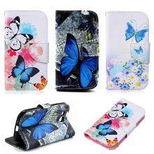 Leather Wallet Magnet Case For Samsung Galaxy S3 Neo Case Flip Cover Butterfly Samsung Galaxy S3 Case Dream Catcher Card Holder(China)