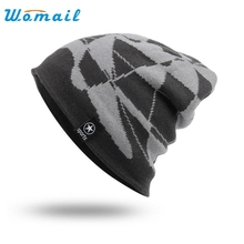 Men Women's Caps Winter Outdoor  single board skating and skiing knitted Beanies Warm Caps Hats