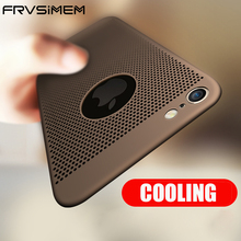 Frvsimem Case For iPhone 5 5s SE 6 6s Plus 7 7Plus Cooling Summer Cases Fashion Thin 360 Case Back Cover For 6 6Plus 6S Plus(China)