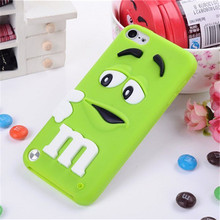Cartoon M&M's Chocolate Candy Case for coque iPod Touch 5 6 Case Soft Silicone Cover Case for fundas iPod Touch 5 6 Covers Cases