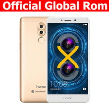 Official Global ROM Huawei Honor 6X 3G RAM 32G ROM Mobile Phone 4G LTE 5.5 Inch 1920x1080P 3340mAh Fringerprint ID Metal body(China)