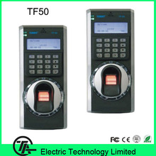 2.8 inch TFT Color Screen fingerprint time attendance and access control system TCP/IP communication TF50 finger print door lock(Hong Kong)