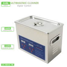 Digital Ultrasonic Cleaner 3L 220V 120W PS-20A 40Khz Timer&Heating 100W w/ basket for small parts bath mainboard Germany Stock