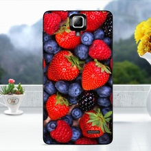 For Lenovo A536 Cover Cases Softlyfit Embossment TPU Soft Phone Shell Case for Lenovo A536 Coque Strawberry Blueberry Fruit(China)
