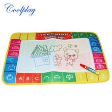 50pcs/pack holiday sale  CP1368 45X29cm Water Doodle Mat with 1 Magic Pen Drawing Toys Mat /Aquadoodle Drawing Mat/