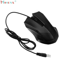 Adroit 2016 Brand New Cool USB Wired 1200 DPI Optical Mouse Gaming Mice For PC Laptop Muis 11S60914