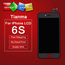 "10pcs Tianma Without Dead Pixel mobile phone lcds for iphone 6S LCD Display Assembly With Frame 4.7"" china highscreen clone(China)"