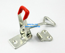 2 Pieces 80mm Adjustable Cabinet Boxes Case Chest Catch Metal Toggle Latch Hasp(China)