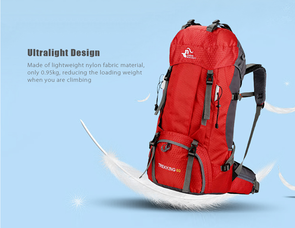 Package Contents  1 x Climbing Backpack. FREEKNIGHT 50L Outdoor Travel  Backpack Camping Climbing Bag Waterproof Mountaineering Hiking Backpacks  Molle Sport ... 5d616d6711129