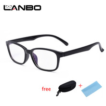 Computer Glasses Frames Anti Blue Rays Radiation Men Women Square Eye PC Glasses Frames Unisex Optical Print Glasses PC 3028(China)