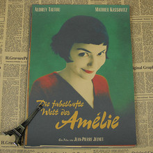 Angel love beautiful Amelie retro classic movie poster poster paper painting decorative painting bar living room bedroom