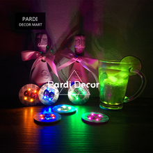 7 Colors LED bottle sticker Flashing mini bottle glow stickers multi colors led flashing coaster 1pc/lot(China)