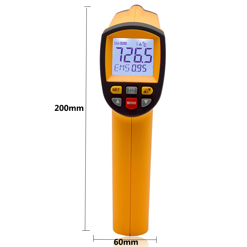 Handheld Non-contact LCD display infrared thermometer 200-1850 Celsius (392~3362 Fahrenheit) temperature measuring gun (3)