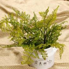 1pc artificial Flowers Short Persian grass simulation flowers fern leaf Home Decor Ornaments wedding decoration Accessories A35(China)