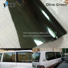New Design Car Window Film with 50*300CM/LOT by free shippingicker Adhesive Vinyl Tint Film Olive green