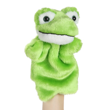 Cute Frog Hand Puppet Baby Bedtime Story Soft Doll Kids Child Educational Plush Toy