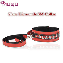 HOT sexo slave collar chain with diamonds sex toys for women bondage neck strap SM games adult sex toys fetish sexy shop(China)