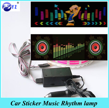 1Pcs Music Rhythm EQ Car Sticker Music Equalizer on Car Windshield LED Sound Activated EL Sheet Glue Stickers 90*25 cm 5 Colour