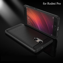 for Xiaomi Redmi Pro Case 5.5inch Soft Carbon Fiber Phone Case Cover for Xiaomi Redmi Pro Case Flip Protective Non Slip
