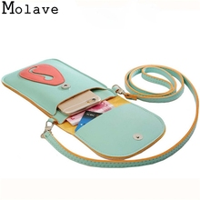 2016 Women Girls Mini Cute Cartoon Purse Bag Pu Leather Patchwork Cross Body Shoulder Phone Coin Practical Protable Bag Nov21