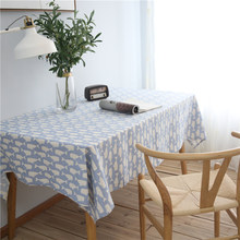 CITYINCITY Cartoon Sulphur-bottom Animal Tablecloth Cotton Printed Rectangular For Home Party Wedding Decoration Customized(China)