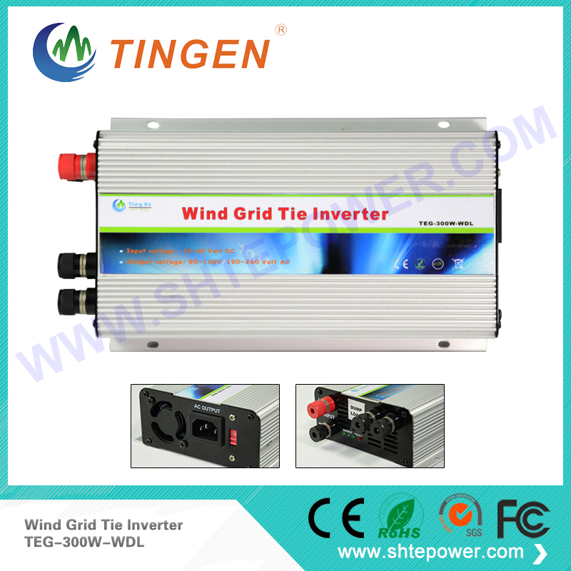 DC to AC 300w input 10.8-30v high efficiency grid connected wind turbine generator two choices output 90-130v 190-260v(China)