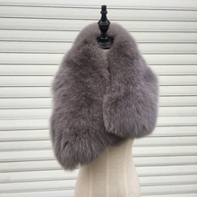 SF0258 New Arrival Genuine Quality Real Fox Fur Scarf Japanese Style Fashion Fox Fur Stole()