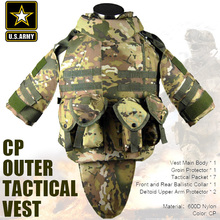 US Army CP camouflage tactical vest 600D nylon molle military cs paintball vest combat vest(China)