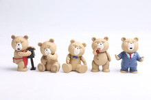 9cm New Movie Teddy Bear Ted Memorial Figure Collection Toy 3 Inch Ted 2 Action Figures