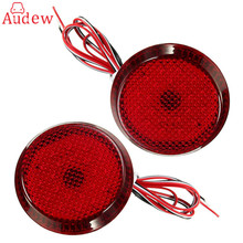 2Pcs  LED Parking Warning Bumper Lamp DC12V Rear Bumper Reflector Tail Brake Light  For Nissan/Qashqai/Trail/Toyota/Corolla