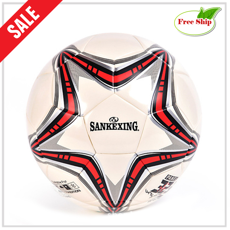 soccer ball size 5 PU leather football competition training professional football Seamless paste for soccer Free ship C19(China)