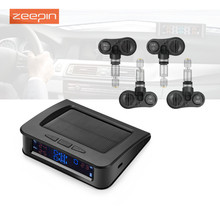 ZEEPIN C220 Car Tire Pressure Monitor System Solar Power TPMS Tire Data Detector Internal/External Sensors Security Alarm System
