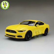 1:18 2015 Ford Mustang GT 5.0 diecast car model for gifts collection hobby Yellow maisto 31197