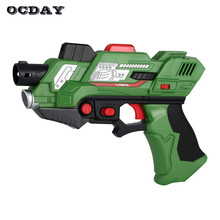 2Pcs Digital Laser Tag Submachine Toy Gun Generation 2 Light Sounds Infrared Battle Game Shooting arma gun Toys for Children(China)