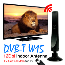 DVB-T TV HDTV Indoor Digital TV Antenna Freeview 12dBi 3M 10Ft Cable Antenna Aerial(China)