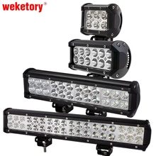 weketory 4 7 12 17 inch 18W 36W 72W 108W LED Work Light LED Bar Light for Motorcycle Tractor Boat Off Road 4WD 4x4 Truck SUV ATV(China)