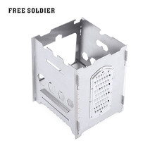 FREE SOLDIER Camping Hiking Wood Stove Outdoor Cookware Multifunctional Portable Camping Stove Firewood Stoves Stainless Steel
