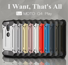 For Motorola Moto G4 / Play / Plus / G3 / E3 Heavy Hockproof Hybrid Armor Cases With Dual Layer Cell Phone Back Cover Case