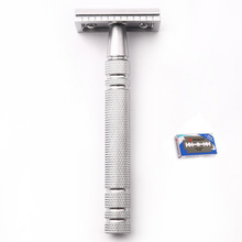 Men Shaving Blade Replaceable Classic Safety Razor Manual Shaver Matte Nonslip Blank Brass Double Edge Razor(China)