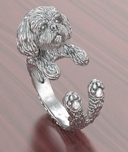 1PCS adjustable new fashion Shih Tzu Ring free size cartoon animal dog  Ring jewelry for pet lovers