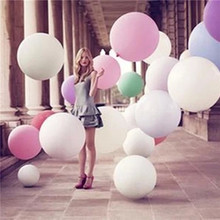 Buy Large 36 inches multicolor latex balloons valentine's day birthday party married wedding decoration balls wedding party supplies for $1.75 in AliExpress store