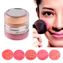3D Pure Mineral Blusher Powder Cosmetic With Sponge Soft powder puff Natural Enhance good complexion intensify ruddy skin top