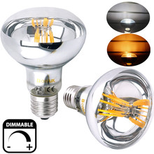 Dimmable R80 ES LED Filament Reflector Bulb 8W, 60W Replacement Edison Screw E26 E27 R80 LED Spot Light for Commercial Lighting