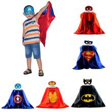 5 Pattons Baby Cape&Mask Set Cloak Kids Superhero Capes Boy Kids Superman Batman Spiderman Baby Costume Cosplay Birthday Gift