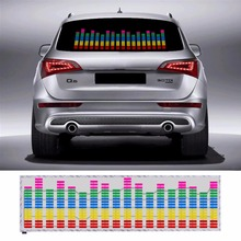 90*25 CM Colourful Music Rhythm Pattern Car Sticker EL Sheet Music Equalizer Car Windshield Sticker Sound Activated Light