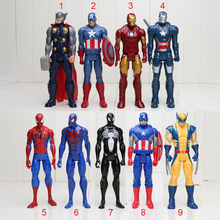 "12"" 30CM Super Hero thor spider man iron man captain america PVC Action Figure Collectible Toy Dolls"